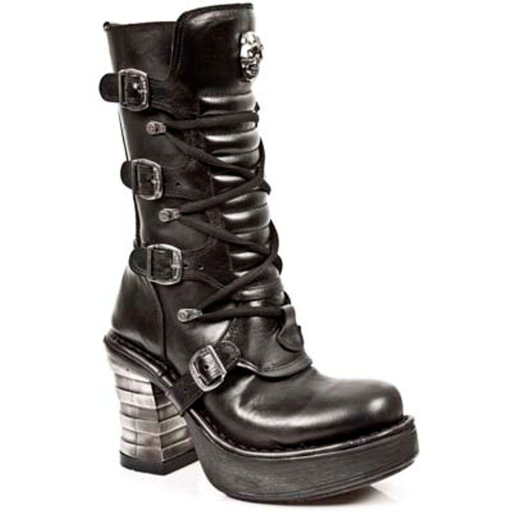 New Rock Rock Rock botas mujer punk Gothic botas-style 8373 s1 negro-señora  mejor servicio
