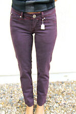 jeans slim violet M&F GIRBAUD xbracket TAILLE 26 (36) NEUF prix boutique 280€