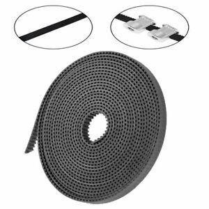 Durable-5m-GT2-Open-Rubber-CNC-Black-Timing-Belt-2GT-6mm-Width-For-3D-Printer