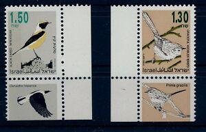 ISRAEL 1992 BIRDS LEFT PHOSPHOR 1.30 & 1.50 ISSUES MNH