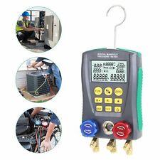 Refrigerantion Digital Manifold Gauge Vacuum Pressure Temperature Tester Meter