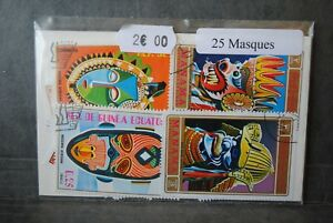 Masques-25-timbres-thematiques-tous-differents