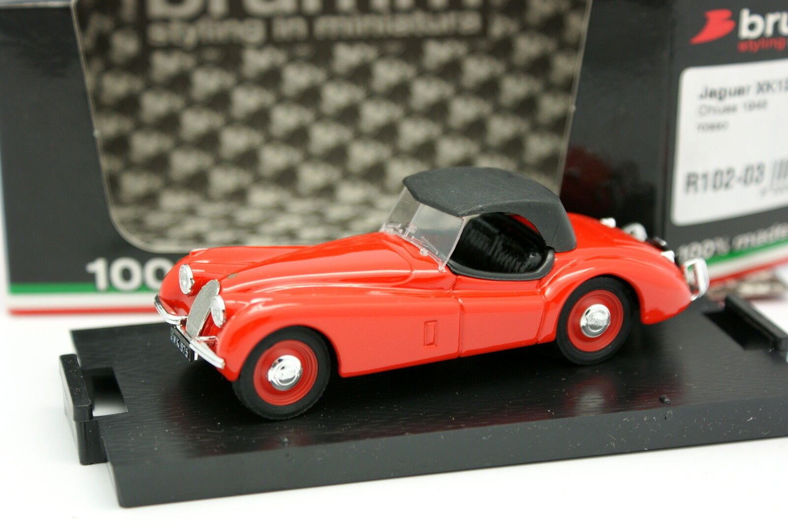 Brumm 1 1 1 43 - Jaguar XK120 Spider 1948 Red 8cb8ee