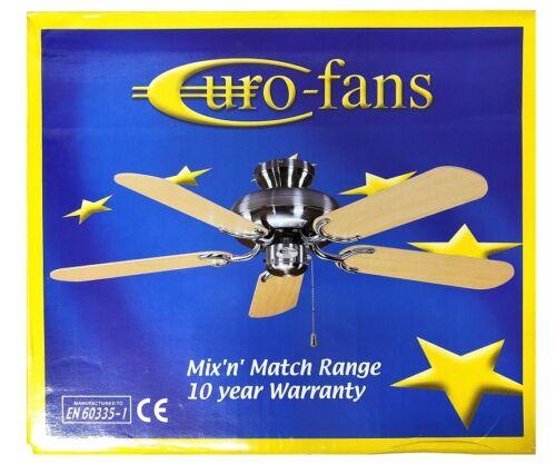 I fan EURO MIX /'N/' Match Ventilatore da soffitto cromato lucido LAME A MOTORE non incluso