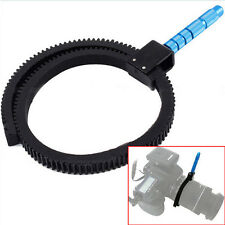 Flexible Adjustable Gear Ring Belt w/Hand For DSLR Camera Follow Focus Zoom Lens
