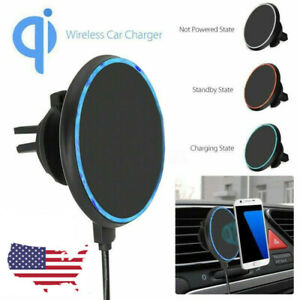 Fast-Qi-Wireless-Car-Charger-Magnetic-Air-Vent-Mount-Holder-For-iPhone-Samsung