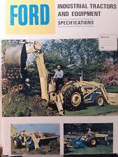 Ford Loader 730 Backhoe Industrial 100 Garden Tractor 4500 2110 Sales Brochure