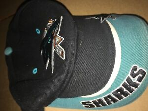 San-Jose-Sharks-NHL-VINTAGE-Ice-Hockey-Hat-cap-T-E-I-One-Size-Fits-Adjustable