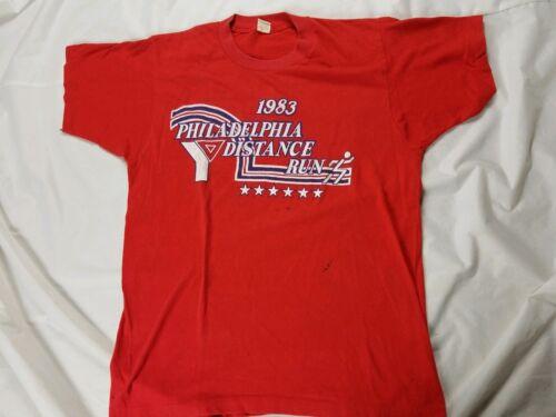 vintage 80s PHILADELPHIA DISTANCE RUN 1983 YMCA LI