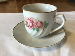 VINTAGE TEA BOWL /& SAUCER WITH ROUND CANDLE MADE IN GERMANY ~ UNIQUE!