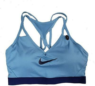 Nike Pro Women/'s Indy Dri-Fit Sports Bra Light Support White Grey AJ4279 100