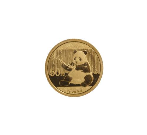 2017-10 Yuan 3 gram Gold Chinese Panda .999 fine Sealed Plastic