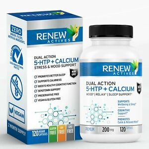 Renew Actives 5HTP 200mg Supplement: 5 HTP Extra Strength Supplements