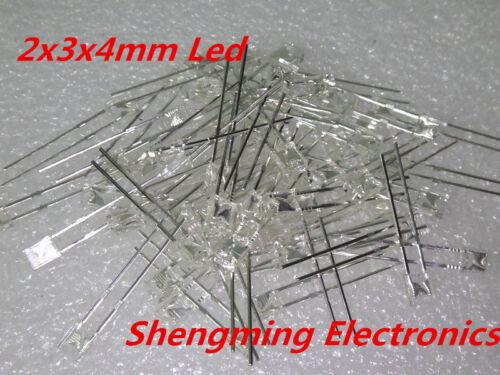 100pcs 2x3x4 White led light emitting diode 2*3*4 MM Diffused