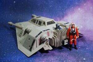 VINTAGE Star Wars COMPLETE HOTH SNOWSPEEDER + FIGURE KENNER WORKS! snow speeder