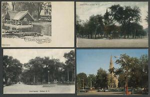 Goshen-NY-Four-c-1905-1960-Postcards-PRESBYTERIAN-CHURCH-PARK-Alligators-More