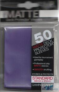 PRO-MATTE-PURPLE-ULTRA-PRO-DECK-PROTECTORS-CARD-SLEEVES-MTG-POKEMON-50-SLEEVES