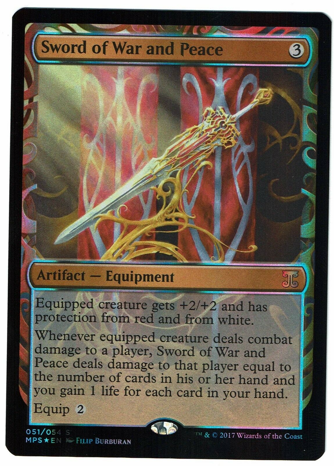 Sword of War and and and Peace  FOIL  Kaladesh Inventions  Near Mint  MtG  Mythic01 56ccda