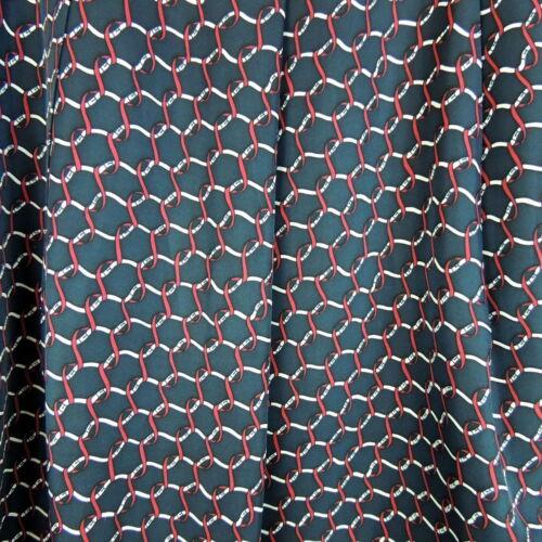 100 bianco Gonna 10 rosso stampa Seta Una catena nautica linea piena blu Talbots SUEwfpqxf