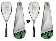 2 x Browning Platinum Nano 100 Squash Rackets + 3 Squash Balls RRP £650