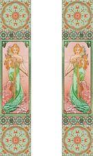 Fireplace Set Tile Ceramic Art Nouveau Illustration Reproduction #10