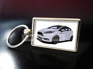 RS FOCUS RS FORD FOCUS RS METALLIC CHROME CHUNKY KEYRING FORD RS KEYRING