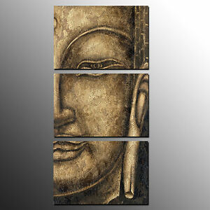 Details About Framed Canvas Art Prints Buddha Wall Art Canvas Painting For Living Room 3pcs
