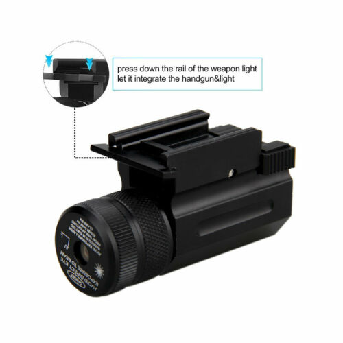 Compact Hanging Green Dot Beam Laser Sight Quick Release Picatinny Rail Mount