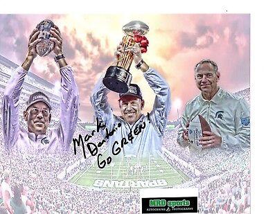 Tom Izzo Mark Dantonio REPRINT signed auto photo Michigan State Mark Hollis MSU