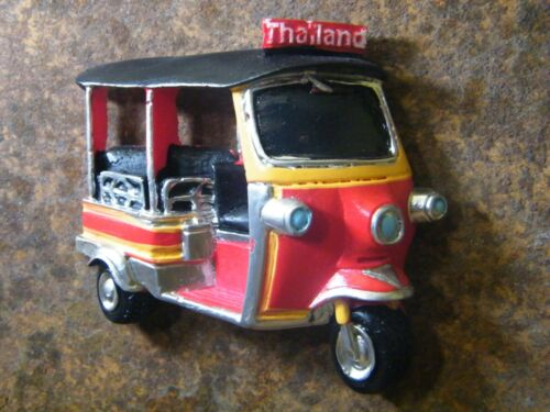 Thailand Vintage Red Tuk Tuk Handmade 3D Resin Fridge magnet souvenir Craft