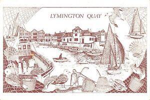 B97393-lymington-quay-boat-postcard-uk