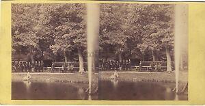 Germania Autriche A Identificare Stereo Foto Vintage Albumina Ca 1865