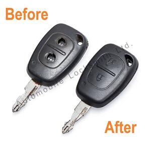 For Vauxhall Opel Vivaro Movano 2 Button Remote Key Repair Refurbishment Service