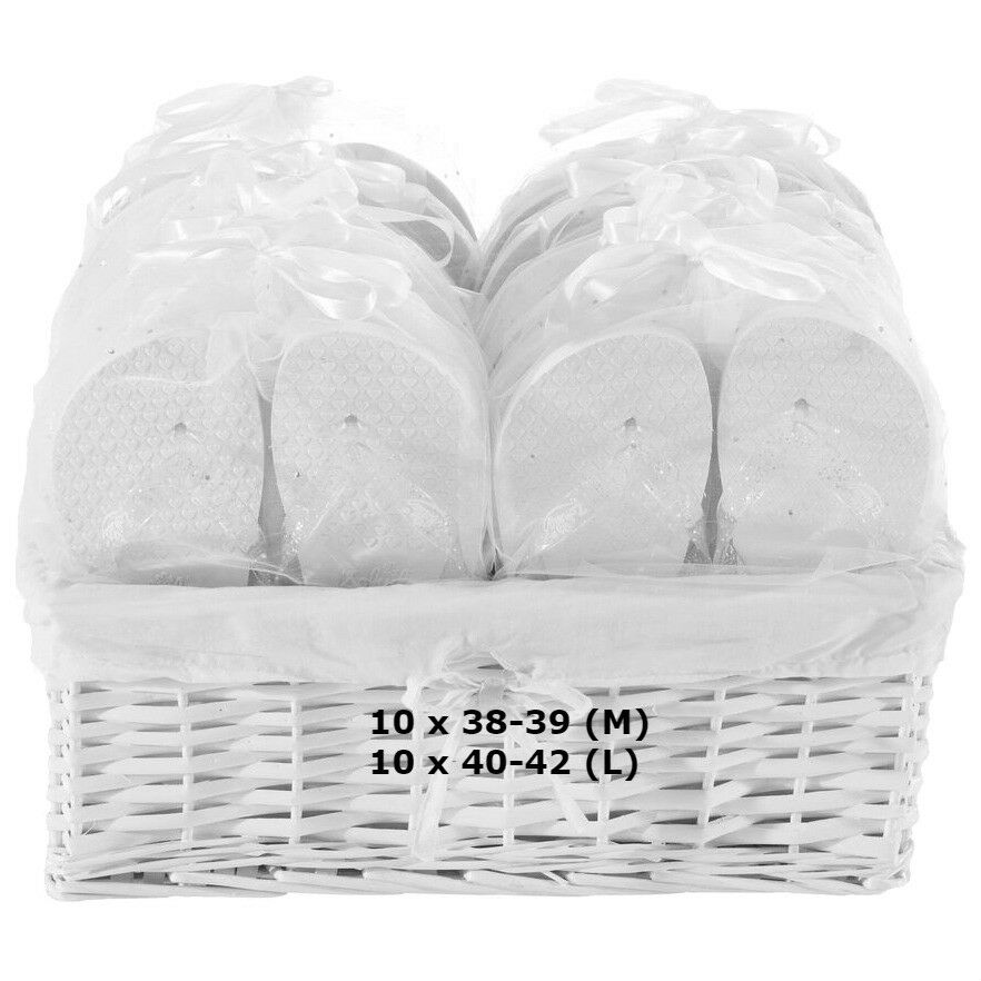 Zohula Hochzeit Flip Flops Premium Partypaket - 20 Paare Auswahl von Größen