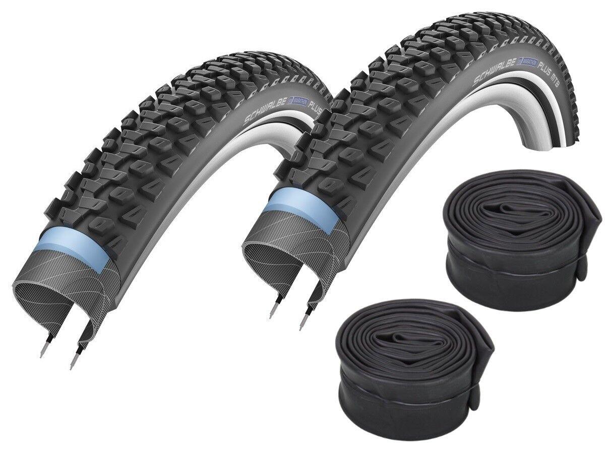 2 x Schwalbe Marathon plus MTB Bike Tyre 26   27,5   29   + Hoses
