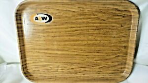 A-amp-W-Food-Serving-Tray-Cambro-Camtray-Woodgrain-Look-Vintage-Auto-Drive-In