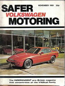 VW Safer Volkswagen Motoring 11/81 Diesel Jetta & Golf Armadillo Formel E range