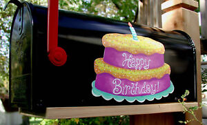 Fantastic Mailbox Magnet Partial Cover Door Car Happy Birthday Cake Party Funny Birthday Cards Online Alyptdamsfinfo