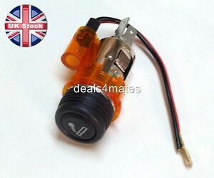 ORANGE-AMBER-Car-cigarette-cigar-lighter-auxillary-socket-plug-12v