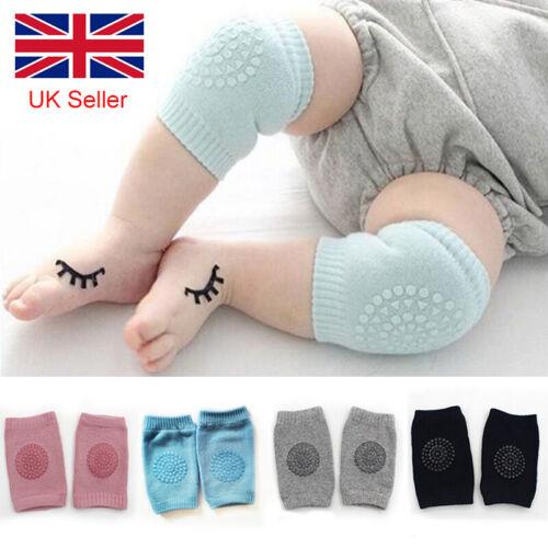 Baby Knee Pads Toddler Safety Crawling Anti-slip Elbow Protector Kids Cushion UK