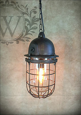 New Large Warehouse Ceiling Light Industrial Caged Pendant Vintage Hanging