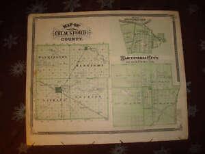 Blackford County Hartford City Portland Indiana Map Nr Ebay