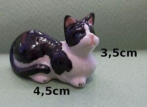 Chat Miniature En Porcelaine,collection,décoration,animal, Cat,poes S2-7 W0vqtc0d-07232717-912365237