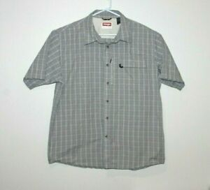 Wrangler-Button-Front-Short-Sleeve-Shirt-Size-Men-039-s-Large