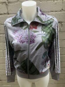 Adidas-Women-039-s-Originals-Track-Top-Size-6-Floral-Short-Jacket