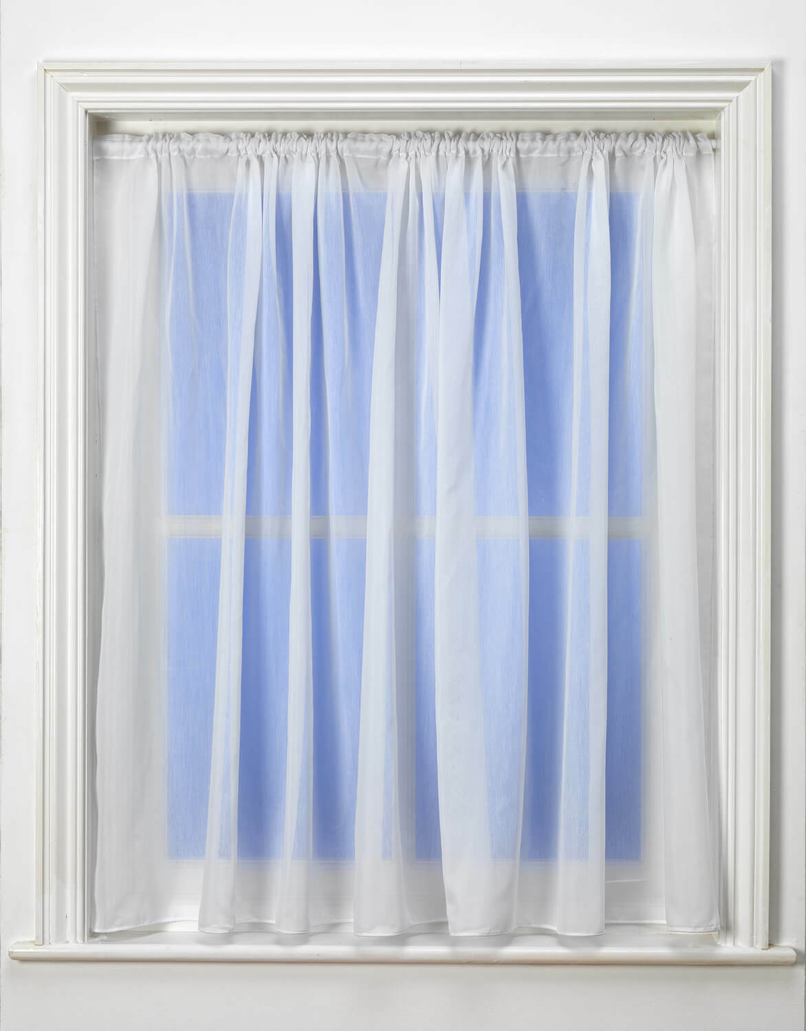 Best Selling Ripley Peru blanco Linen Look Voile Curtain - Premium Quality