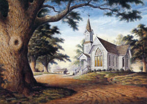 Image Is Loading Amazing Grace Sunday Country Church Chapel Jesus Matted