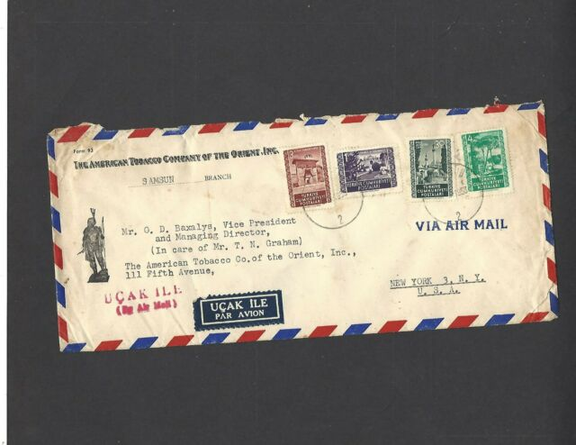 1950s THE AMERICAN TOBACCO COMPANY OF THE ORIENT,IZMIR,TURKEY TO NEW