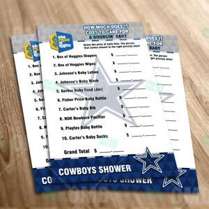 Dallas Cowboys Baby Shower Party Games Ebay