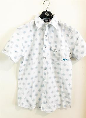 CSH7AG Blue Rip Curl SIDEWAYS SHIRT Mens Short Sleeve Casual Shirts New